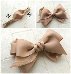 Ribbon Art, Diy Ribbon, Ribbon Crafts, Ribbon Bows, Ribbons, Handmade Hair Bows, Diy Hair Bows, Handmade Crafts, Diy Crafts