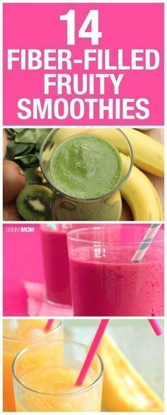 Get your daily fiber intake with one of these fiber-filled fruity smoothies!