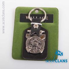 Wallace Clan Crest Keyfob. Free worldwide shipping available