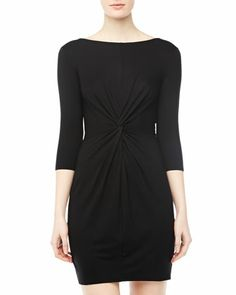 Knot-Front+Dress,+Black+by+Three+Dots+at+Neiman+Marcus+Last+Call.