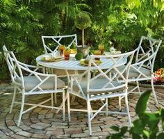 Visit The Home Depot to buy Home Decorators Collection Caicos French Linen Dining Set 0482400460 Outdoor Dining Set, Outdoor Tables, Outdoor Seating, Outdoor Entertaining, Outdoor Rooms, Outdoor Gardens, Outdoor Living, Outdoor Furniture Sets, Outdoor Decor