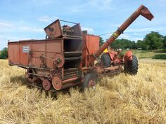 Rear of Allis Chalmers 66 All Crop combine