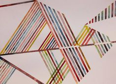 Drawing, Watercolor on paper, Lines, Colors, Geometry, Abstraction