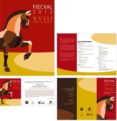 Corporate identity and official poster for FIECVAL 2012,  XVIII VALENCIA'S HORSE FAIR.