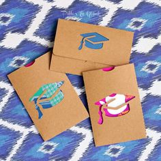 Graduate Gift Card Holders with Free Cut File www.PitterandGlink.com