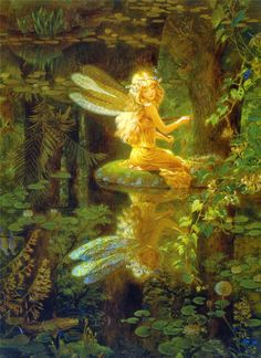 ≍ Nature's Fairy Nymphs ≍ magical elves, sprites, pixies and winged woodland faeries - Claire's Wing by Kinuko Y. Fairy Dust, Fairy Land, Fairy Tales, Forest Fairy, Magical Forest, Woodland Fairy, Deep Forest, Elfen Fantasy, Fantasy Art