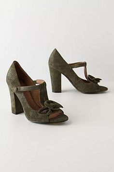 Ribbon Moss T-Straps from Anthropologie $178