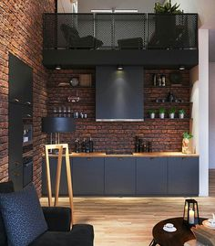 60+ Small Modern Industrial Apartment Decoration Ideas http://seragidecor.com/60-small-modern-industrial-apartment-decoration-ideas/