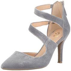 Nine West Women's Florent Pump, Grey Velvet Fabric, Medium US Flats, Sandals, Women's Pumps, Nine West, Stiletto Heels, Velvet, Grey, Fabric, Amazon