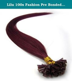 """Lilu 100s Fashion Pre Bonded Nail U Tip Remy 100% Real Human Hair Extensions (18"""" inch, Bug). Hair Care please wash it by special shampoo, which is the most mild one, and clean water as well. Please use the shampoo recommended by local professional hairdresser. Improper wash or process probably make the hair dry, easy to fall down or tangle. How you care for your extension will be the ultimate determining factor. Please refer to local professional hairdresser for professional tip . The…"""
