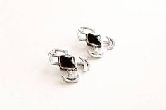 Sterling silver earrings black onyx earrings game of thrones