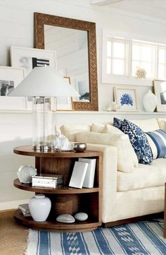 52 Beautiful Coastal Living Room Decor Ideas Improve Your Home, Interior decoration can work wonders for any space. Good decor can hide a large number of sins. Whether you are searching for home decor to present yo. Coastal Living Rooms, Home And Living, Living Room Decor, Living Spaces, Ralph Lauren Home Living Room, Cozy Living, Blue And Cream Living Room, Hamptons Living Room, Small Living