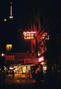 Birdland jazz club NYC 50's