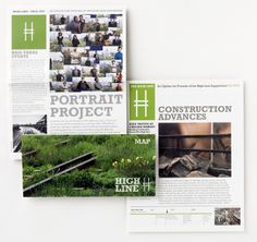 Friends of the High Line newsletters from 2007.