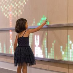 Light emitting wood brings happiness and wonder to a Children's hospital. deigned by ENESS, installed at Cabrini Hospital Melbourne, Australia.
