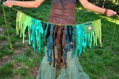 tattered clothes | TatteRed Pixie Skirt, FesTivaL Clothing, Gypsy Wrap Skirt, Tattered ...