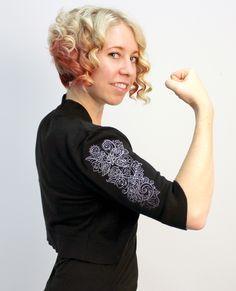 Tutorials | Urban Threads: Adding machine embroidery designs to sleeves