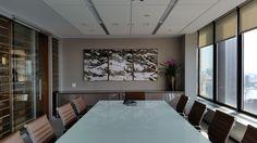 Soraya Pastor Photo Art - Water Strokes Series installed at corporate office