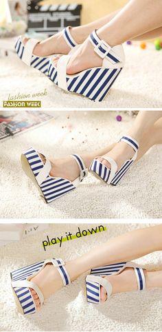 ed2277d80a8 High-heeled shoes wedge heel