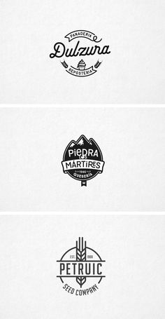 Logotipos sector alimentación. Panadería, quesería, confitería.