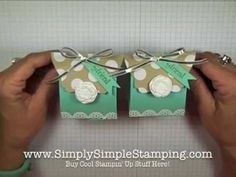 ▶ Simply Simple TREAT BOX by Connie Stewart - YouTube
