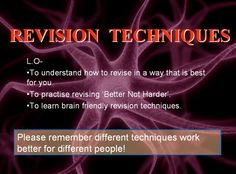 Revision tutorial - A revision tutorial to help students consider different revision techniques and how to use them. Math Teacher, Teaching Math, Maths, Teaching Resources, Teaching Ideas, Revision Techniques, Revision Tips, Math Enrichment, Secondary Math