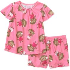 Child of Mine by Carters Toddler Girl Tee and Shorts Sleep Set: Baby Clothing : Walmart.com