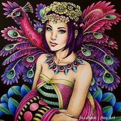 #coloriage #fantasiacoloringbook #nicholasfchandrawienata #arte_e_colorir #desenhoscolorir #divasdasartes #majesticcoloring #coloriageantistress #peacock #polychromos #prismacolor #colorirlivros