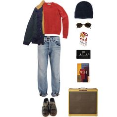 Talking to Mary by origami-kitten on Polyvore featuring mode, SELECTED, Dr. Martens, Acne Studios, Moschino, STELLA McCARTNEY and CASSETTE