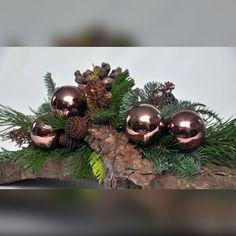 Klassieke kerstschikking met schors -