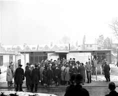 The 100,000th temporary house in Britain!  January 1947