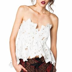 Stone Cold Fox Texas Tube top WHITE. Size M/L fits like a Medium Stone Cold Fox Tops