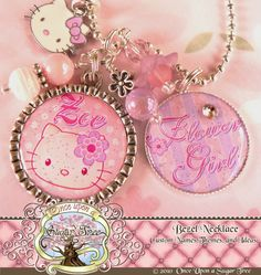 HELLO KITTY Flower Girl PERSONALIZED by onceuponasugartree on Etsy, $23.00