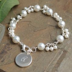 Love this! Elegant and goes with everything + you can make it with any type of beads to get a different look!!