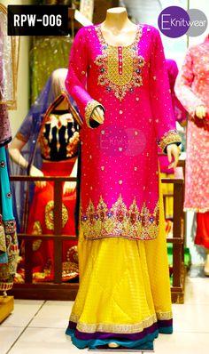RPW-006 Beautiful Hot Pink Kamdani Handwork Shirt with Jamawar Banarsi Lehenga Comes with Chiffon Dupatta.. Inbox us to Order.. #hotpink #handwork #banarsi #jamawar #lehenga #sharara #Kamdani #fashion #style #stylish #trend #pakistanisuits #partywear #mangni #engagementdress #dress