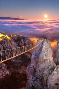 Mount Ai Petri at Night, Crimea, Ukraine By Denis Belitsky