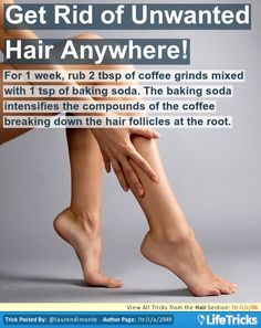 Get Rid of Unwanted Hair Anywhere! (Would be interesting to see if this little trick worked. Lol, would be nice!)
