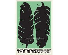 The Birds 12x18 inches movie poster by ClaudiaVarosio on Etsy, £12.00