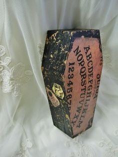 Ouija Board Coffin Trinket Box Decor by PrettiesForYouShop on Etsy, $16.00 spooky halloween supernatural jewelry craft witch ghost