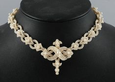A Victorian seed pearl necklace: a most fascinating piece of seed pearl bead stitching! Very inspirational!