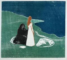 Edvard Munch  -  Woman on the Beach  (1898).