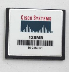 CISCO 128MB Compact Flash Card CCF128JCUS1MA000 CF Card 128M #Cisco Cisco Systems, Compact, Store, Cards, Ebay, Storage, Map, Shop
