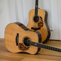 It doesn't get much better than this, dual Santa Cruz Tony Rice's; Respectively from 2003 and What do you think?) Picture by Custom Acoustic Guitars, Vintage Guitars, Music Rooms, Music Instruments, Rice, Photos, House, Santa Cruz, Guitars