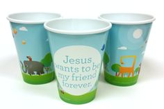 Jesus Wants To Be My Friend Forever Cups (Set of 10) - 12oz reusable cups that are great for an Easter day take home and/or volunteer appreciation gift