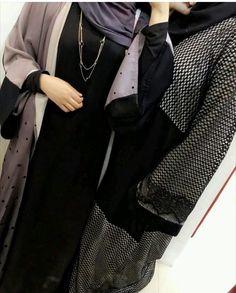 Image in Black ❤ collection by Misaki Yume on We Heart It Hijab Outfit, Hijab Wear, Arab Fashion, Muslim Fashion, Burqa Fashion, Modest Fashion, Abaya Designs, Stylish Dresses For Girls, Stylish Girls Photos