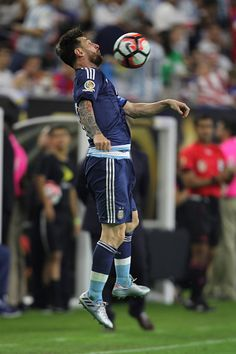 #COPA2016 Lionel Messi of Argentina drives the ball during the Semifinal match between United States and Argentina at NRG Stadium as part of Copa America...
