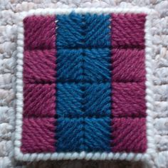 Plastic Canvas: Gift Card Holder, Quilt Star (back, from e-PatternsCentral.com pattern.  .altered a bit)