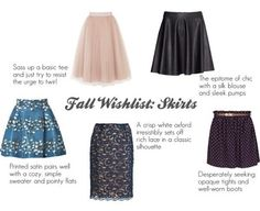 Fall fashion // skirts with style // pencil skirt // skirts with tights and boots // tulle skirt // leather skirt // skirts for the office // style blogger {Featured 8/31/13}
