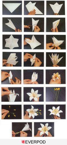 hacer flor de papel