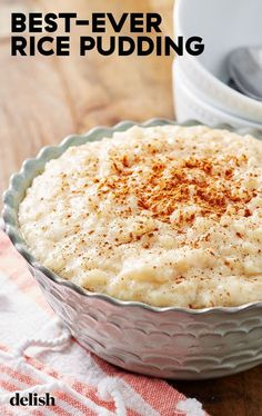 Rice pudding is WILDLY underrated here s our favorite way to make it Get the recipe from rice pudding recipe howtomake homemade dessert easy creamy stovetop Pudding Desserts, Köstliche Desserts, Homemade Desserts, Health Desserts, Angel Food Cake Desserts, Plated Desserts, Easy Rice Pudding, Easy Pudding Recipes, Homemade Rice Pudding